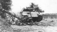 A German Panther tank attacks the British forces west of Caen.
