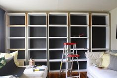 bookcases, built ins, living room
