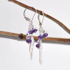 Checkout this amazing product Purple Petal Earrings. $43.00, via Etsy. at Shopintoit