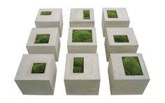 цветочные горшки из бетона, аксессуары из бетона
