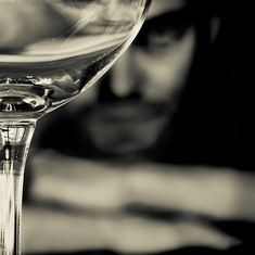 Self-portrait with Empty Glass