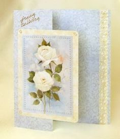 Card Making Project - Cream Flowers and Pearls Birthday Card