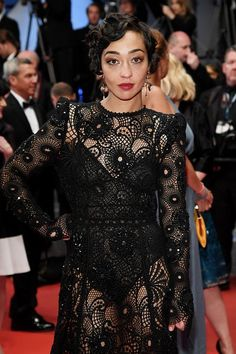 Ruth - Negga wore a custom #MarcJacobs black embroidered lace gown to the #LovingMovie premiere. #Cannes2016The Fashion Court (@TheFashionCourt) | Twitter