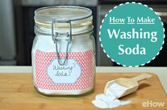 Washing soda is a chemical compound that can be used to remove stubborn stains from laundry. It's commonly used in homemade laundry detergents and dish detergents, and is known for its stain-lifting abilities. it is extremely inexpensive to make yourself! How-to here: http://www.ehow.com/how_5859235_make-washing-soda.html?utm_source=pinterest.com&utm_medium=referral&utm_content=freestyle&utm_campaign=fanpage