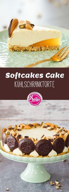 Die Softcakes bestehen aus einem feinen Biskuit, einer Orangenfruchteinlage und dunkler Zartbitterkuvertüre. Diese habe ich verwendet, um eine Softcake Torte mit einem knusprigen Boden herzustellen – und das ganz ohne Backen.