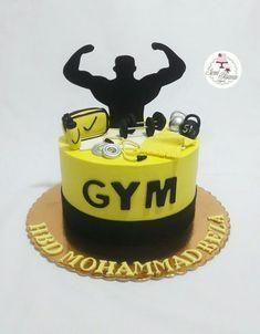 Cake Design For Men, Cool Cake Designs, Manchester United Birthday Cake, Beautiful Cakes, Amazing Cakes, 30th Birthday Cakes For Men, Fitness Cake, Gym Cake, Cake For Husband