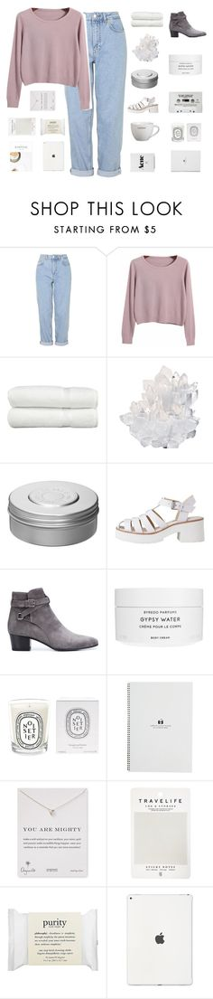 """day #2 for challenge"" by itsbrea ❤ liked on Polyvore featuring Boutique, Chicnova Fashion, Linum Home Textiles, McCoy Design, Hermès, Yves Saint Laurent, Byredo, Diptyque, Dogeared and Mark's Tokyo Edge"