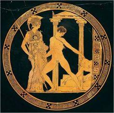 Civilizacion griega Teseo luchando contra el minotauro.Museo Arqueológico Nacional de Madrid