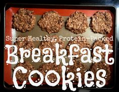Super Healthy, Protein-packed Breakfast Cookies #breakfast #delicious #kidfriendly #familyfriendly