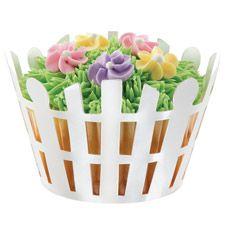 Wrap - Falditas cerco blanco. Viste tus cupcakes con estos lindos diseños! Precio S/: 14