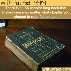 A book that makes sense no matter where what chapter you read from - WTF fun facts