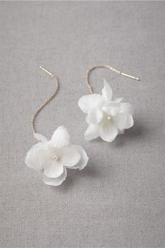 Hanami Earrings in SHOP Shoes & Accessories Jewelry at BHLDN, petals are cotton and silk