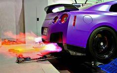 Visit The MACHINE Shop Café... ❤ Best of Nissan @ MACHINE ❤ (Nissan GT-R Exhaust Flameout)