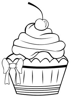 A Very Pretty Cupcake Coloring Pages - Cookie Coloring Pages : KidsDrawing – Free Coloring Pages Online