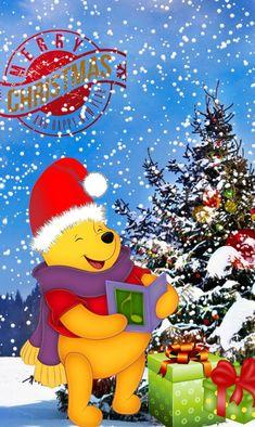 Trendy Disney Christmas Wallpaper Desktop Winnie The Pooh Winnie The Pooh Pictures, Cute Winnie The Pooh, Winnie The Pooh Christmas, Winnie The Pooh Quotes, Winnie The Pooh Friends, Disney Christmas, Christmas Love, Christmas Pictures, Wallpaper Iphone Disney