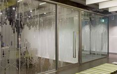 Film Foil is used to great aethetic properties to the glass. This allows companies to not only brand them selves, but also allow the rooms within the interior to be more private. This may work with some interiors.