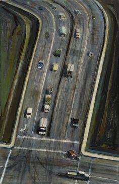 Wayne Thiebaud:  Intersection (1976)