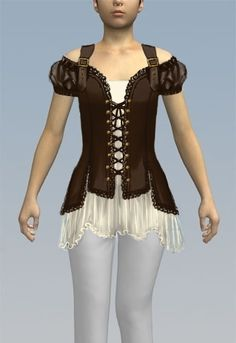 Victorian Pirate Top design by Amber Middaugh