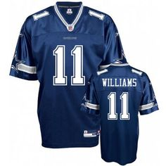 Williams Team Color (Navy Blue) Jersey $19.99 This jersey belongs to Williams, Dallas Cowboys #11  Color: navy blue, Size: M, L, XL, XXL, XXXL  The jersey is made of heavy fabric with nylon diamond weave mesh