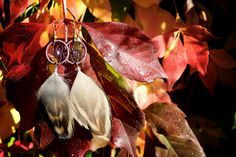 Aubergine and Brown Dream Catcher Earrings by nZuriArtDesigns