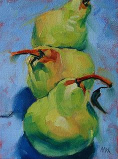 "Daily Paintworks - ""Three in a Row"" by Mary Anne Cary"