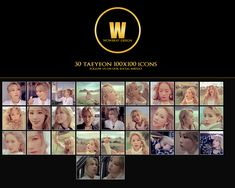 taeyeon Icons. Can be used for Journals or blogs etc.  #taeyeon #snsd #girlsgeneration #kpop #korean #korea