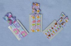 Tiny Ties  Hair Ties by ShillysFrillies on Etsy, $5.00