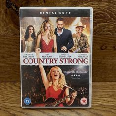 Country Strong DVD Film Movie Gwyneth Paltrow Ed Bruce Tim Mcgraw Jackie Welch Country Music Stars, Tim Mcgraw, Leighton Meester, Gwyneth Paltrow, Lee Ann Womack, Singer Songwriter, Dvds For Sale, Supportive Husband, Hank Williams Jr