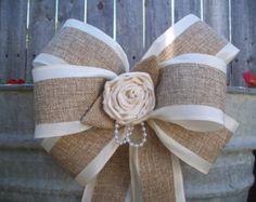 country wedding burlap bow