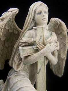 St Lofiel Mourning Archangel Angel Sculpture Art Statue Marble Gift
