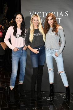 Taylor Hill Photos - Liu Wen, Candice Swanpoel and Taylor Hill pose at the Victoria's Secret Store At Lippo Plaza Appearance at Victoria's Secret on November 18, 2017 in Shanghai, China. - Taylor Hill Photos - 1 of 735