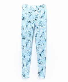 This Light Blue Olaf Snow Leggings - Girls by Frozen is perfect! #zulilyfinds