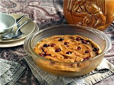 Baked Pumpkin-Cranberry Oatmeal Pudding (#vegan, #glutenfree, refined #sugarfree #recipe) | rickiheller.com