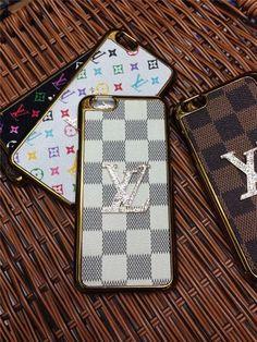 iPhone 6/6 Plus moderne Hardcase mit Diamanten verziertem LV GUCCI Logo - VartisMedia.com