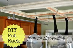 Old Window Pot Rack