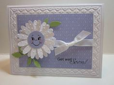 Cute faced Flower Card
