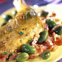 Poulet aux olives Saint-Patrick