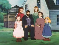 """・・・・・・・・・・『マーチ一家』・・・・・・・・・ 『愛の若草物語』1987 ・   The lead characters :  →  the March Family ~  ー Jo; Meg; Beth; Amy and their parents.. ・    「Little Women, Love's Tale of Young Grass」 ・ Aired on Fuji TV from Jan. 11, 1987 to Dec. 27, 1987; with 48 Episodes.. ・  Adapted from Louisa May Alcott's """"Little Women"""". ・ Adored, personal favorite from """"World Masterpiece Theatre"""" ー Anime Series, made by Nippon Animation."""