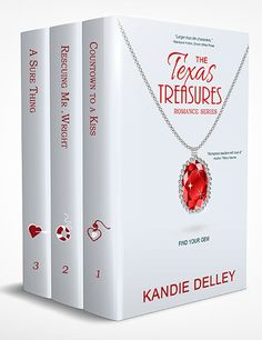 "New eBook boxed set cover design for ""Texas Treasurs"" romance collection."