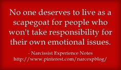 No one deserves to live as a scapegoat for people who won't take...