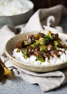 Slow cooker beef and broccoli is an easier alternative to take-out! It's made in the slow cooker and all you have to do is you set and forget it!