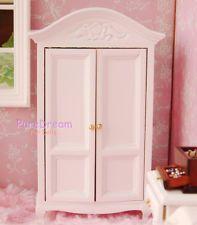 1:12 Dollhouse Miniature White Bedroom Victorian Funiture Wardrobe WB00810
