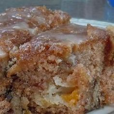 Peach Cake - This was a very easy recipe, delicious, moist and not too sweet. It was ready to go into the oven in seconds