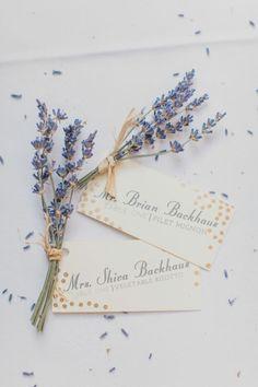 REVEL: Lavender Escort Cards