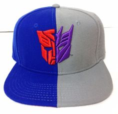 c23bec69c7b38 Transformers AUTOBOT VS DECEPTICON SNAPBACK HAT Blue Gray Symbol Men Women Teen