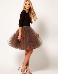 ASOS Full Skirt in Mesh