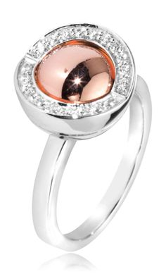 Joy de la Luz | Ring cz silver/rosé  €85,-
