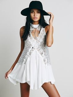 lovely.  so lovely.  Free People Cross My Heart in Lace Tunic at Free People Clothing Boutique