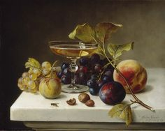 Still Life with Fruit and Champagne by Helen Searle / American Art