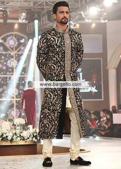 Pakistani Wedding Sherwani Suits Edison New Jersey NJ USA Exclusive Wedding Sherwani Sherwani Groom, Mens Sherwani, Wedding Sherwani, Pakistani Wedding Dresses, Wedding Dress Trends, Pakistani Outfits, Wedding Suits, Indian Groom Dress, Man Fashion